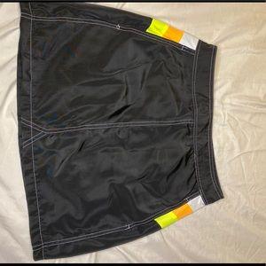 Mini windbreaker skirt